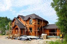Завершение строительства Среднего деревянного дома на участке №50