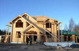 Строительство дома подходит к концу