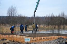 Начало строительства дома на участке №14